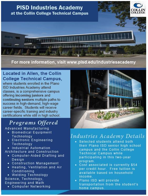 Industries Academy Information Flyer