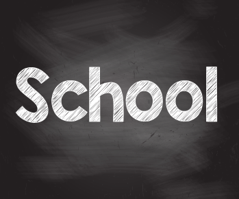 School chalkboard icon