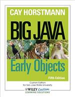 Big Java Early Objects by Car Horstmann