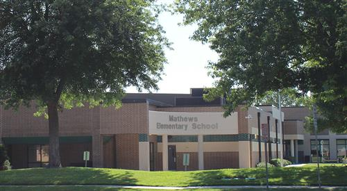 Mathews Elementary Facade