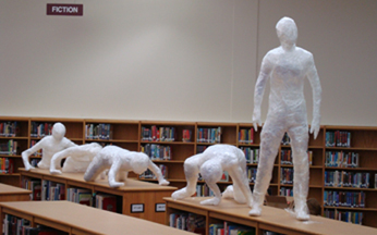 Art at Shepton HS library