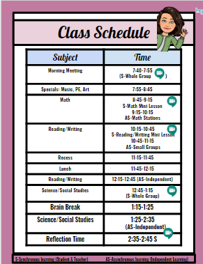Teacher Schedule