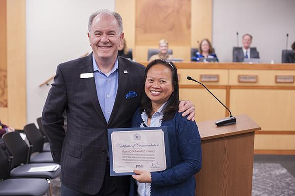 Plano Mayor Pro Tem and Board VP with Certificate