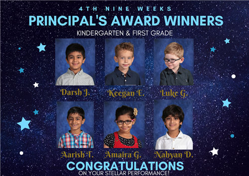 kinder and first prinicpal award winners