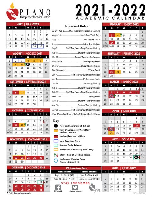 Pfisd Calendar 2021-22 COVID 19 / COVID 19 District Updates