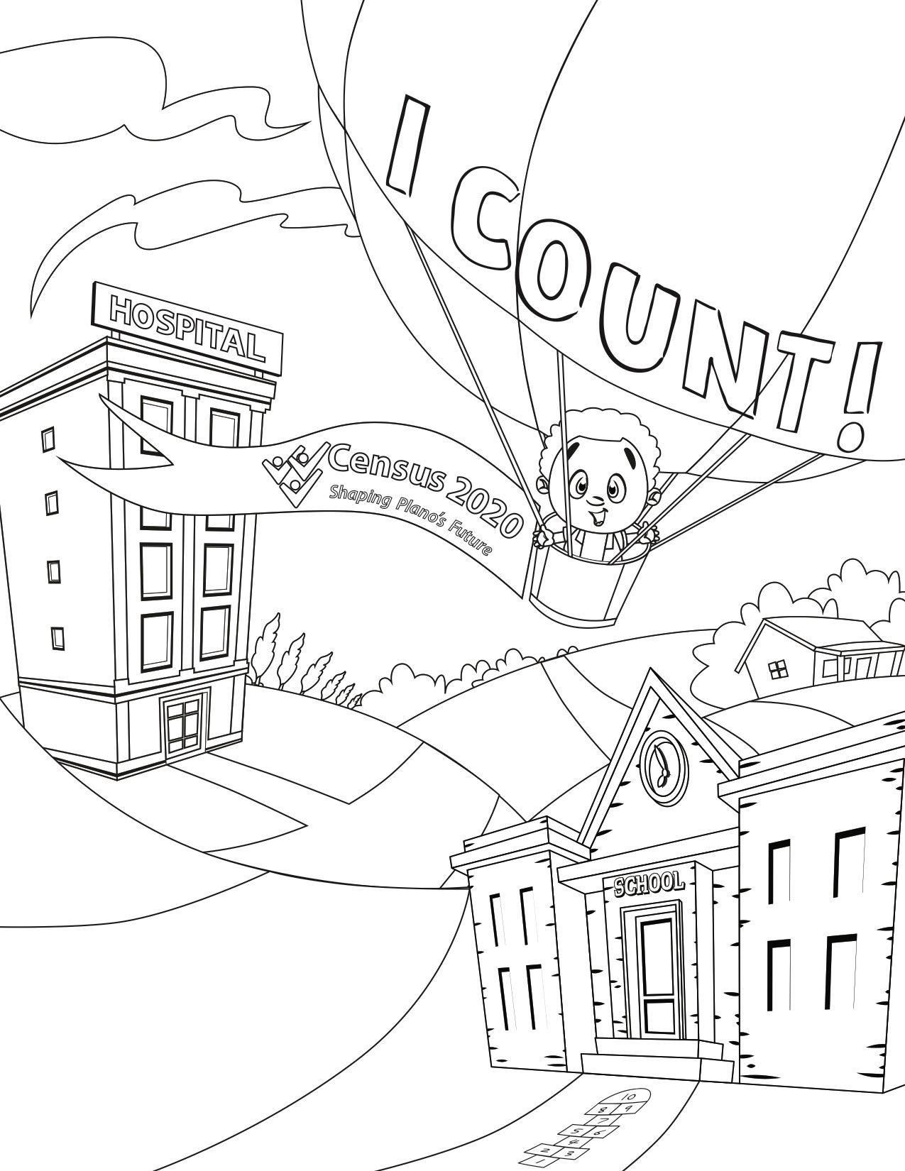 Census 2020 coloring page