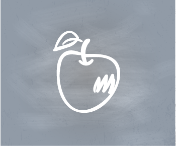 Apple on Gray Background