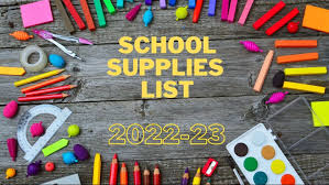 School Supply List 2020-21
