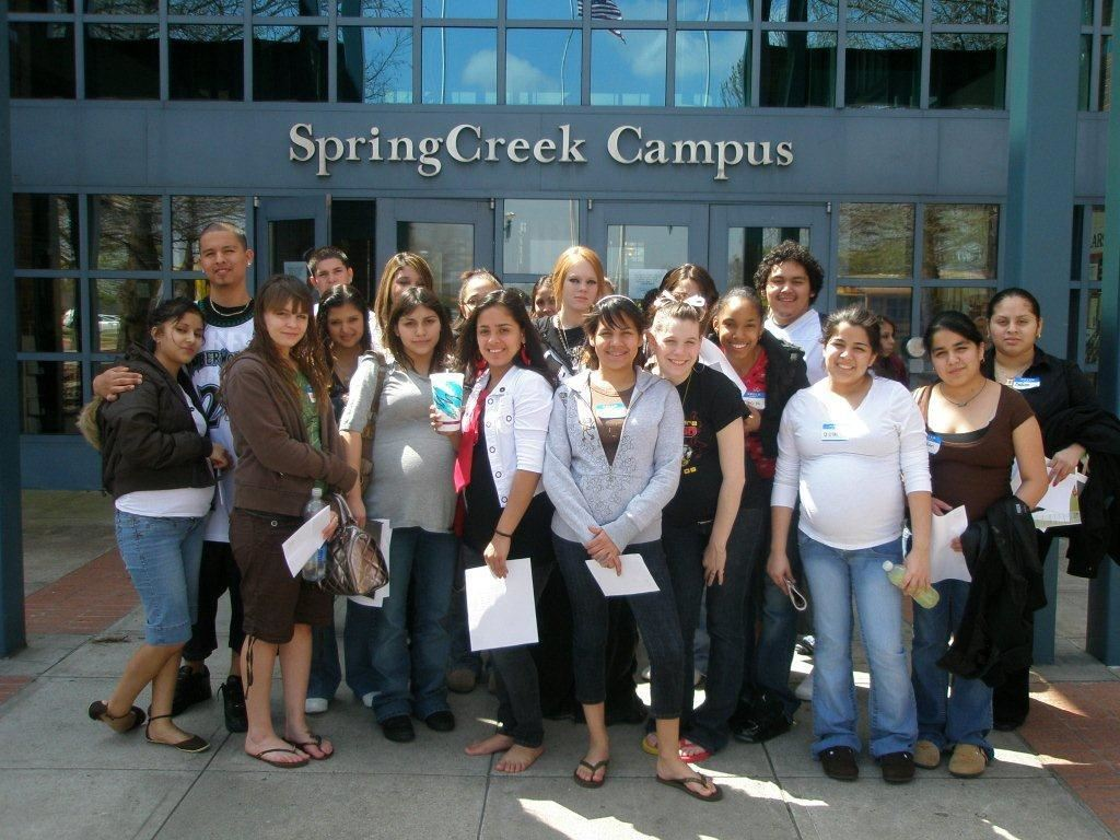 Group of students at Collin College campus visit.