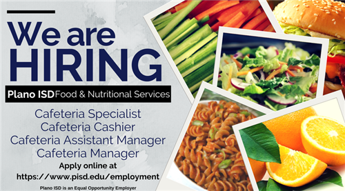 Come join our team!  Food & Nutritional Services is hiring!