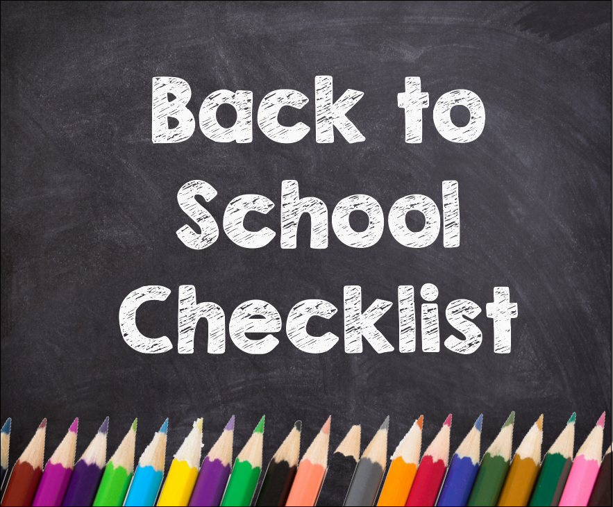 Back to school checklist for supplies and PTA membership