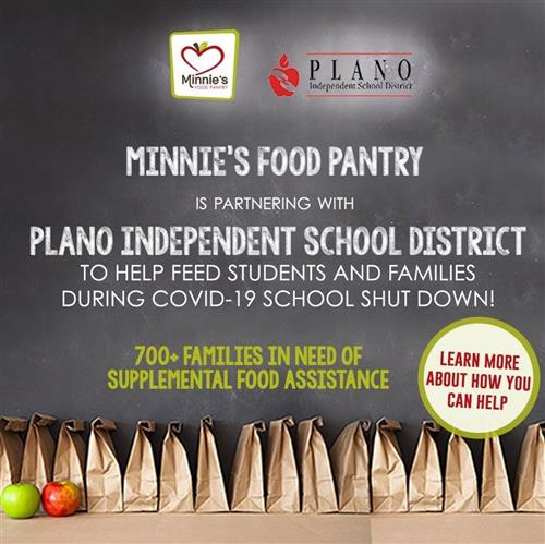 Minnie's Food Pantry is partnering with PISD to help those needing food assistance during school closure. Learn how to help.