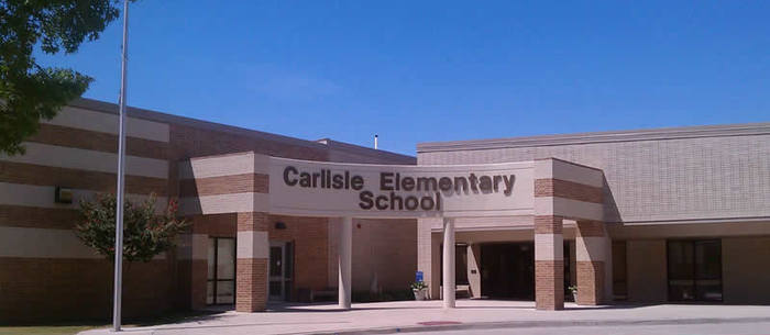 Carlisle Elementary School front entrance