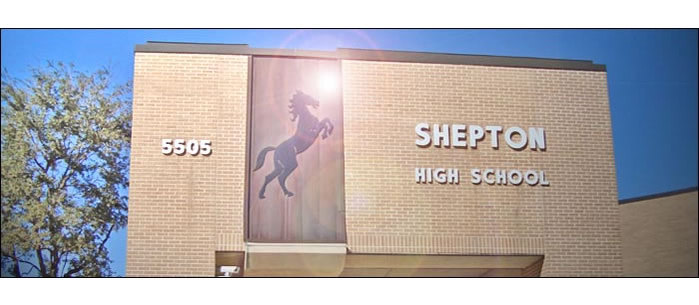 Shepton High School front entrance