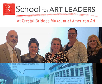 National Art Education Association/School for Art Leaders logo and program graduates