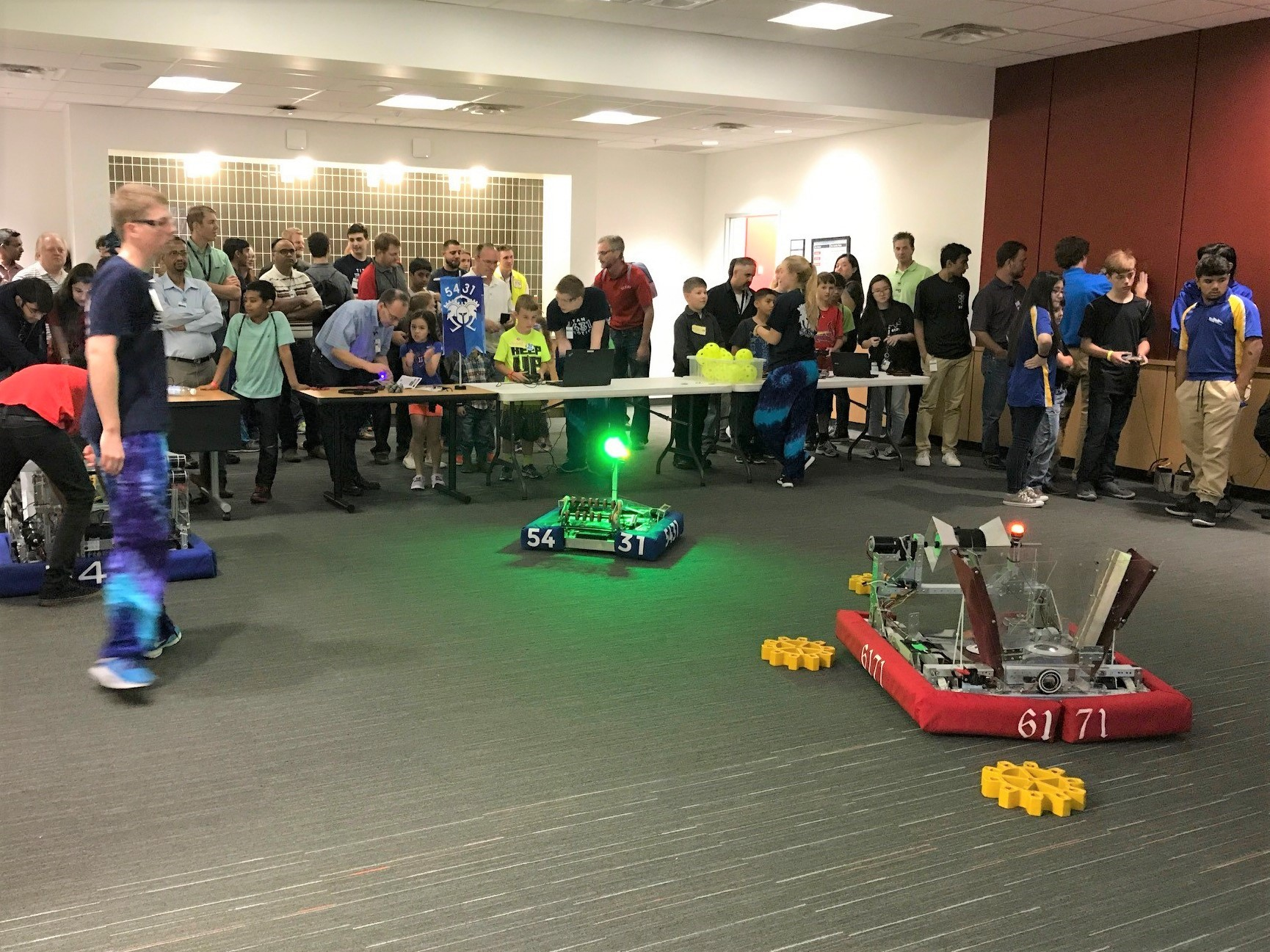 Robotics teams from Academy High School and Plano Senior High
