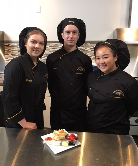 PESH culinary arts students in kitchen