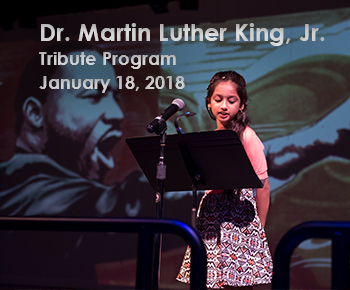 Dr. Martin Luther King Jr. Tribute Program, Jan. 18, 2018