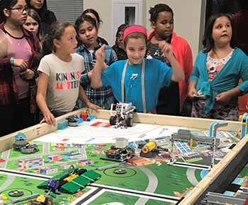 FIRST LEGO League robotics team