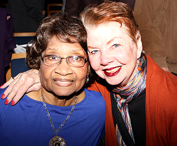 Dr. Myrtle Hightower and Ms. Dotte Gandy at MLK Tribute Event