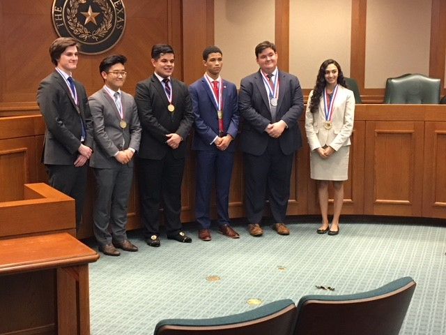 UIL 6A Congressional Debate winners