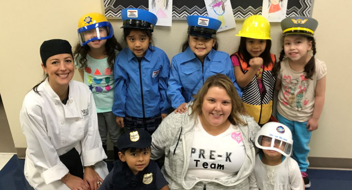 Weatherford PreK students dressed up for Career Day