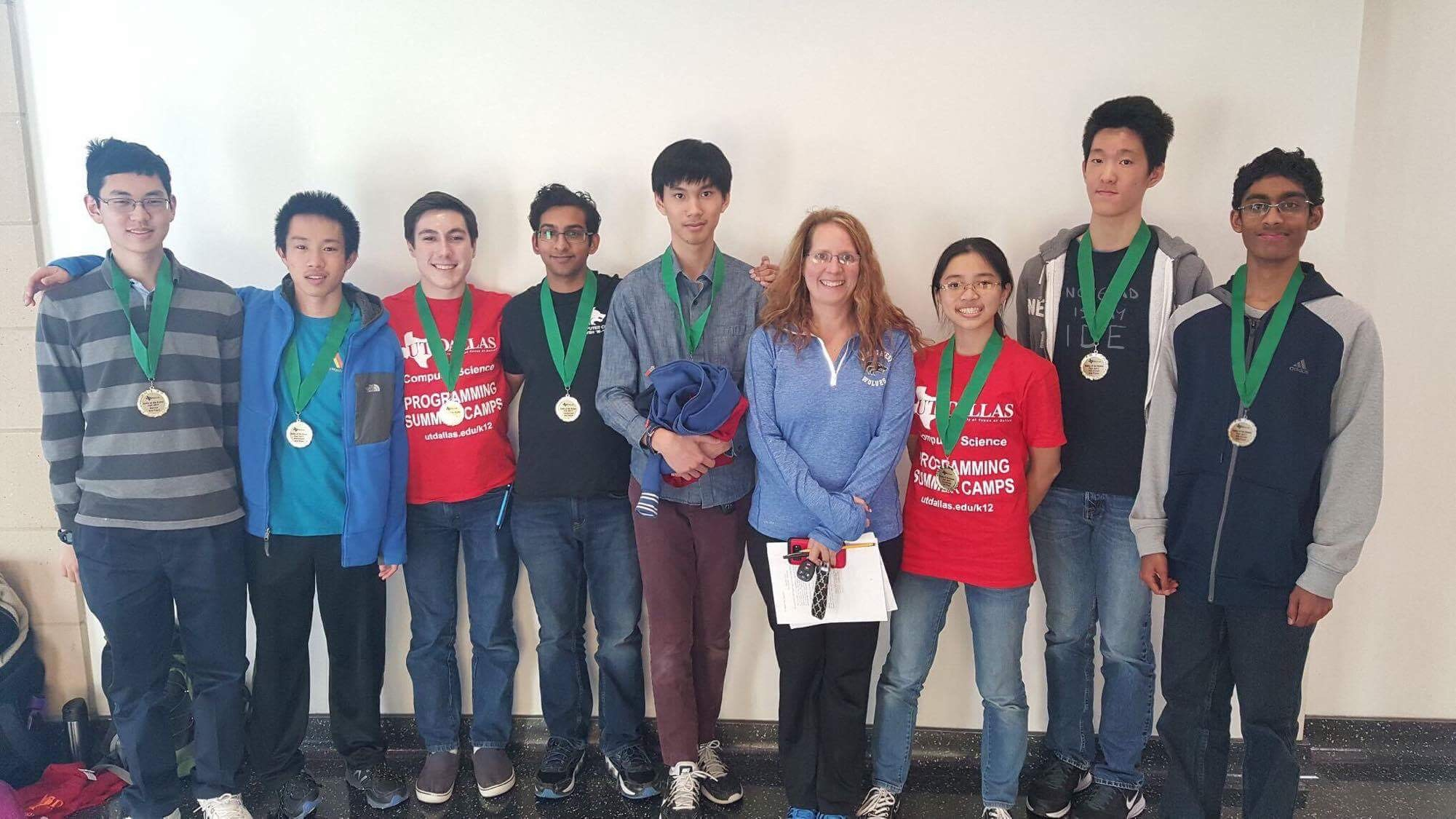 Plano West Team Members Battle of the Brains Contest