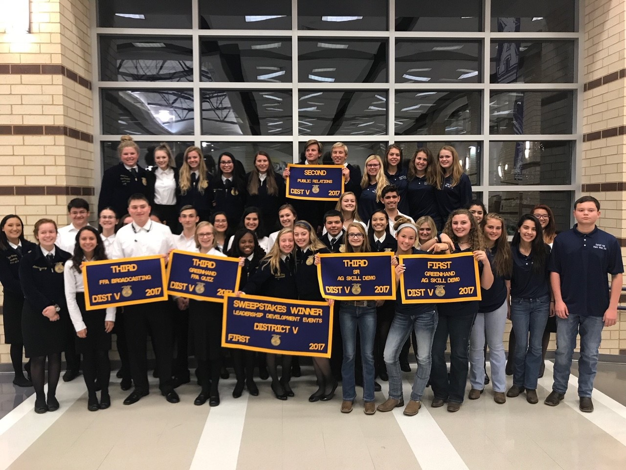 Plano West FFA teams at District LDE