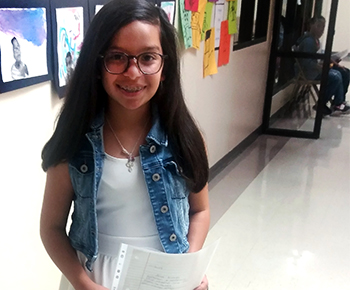 Huffman fifth grader Anali Astorga