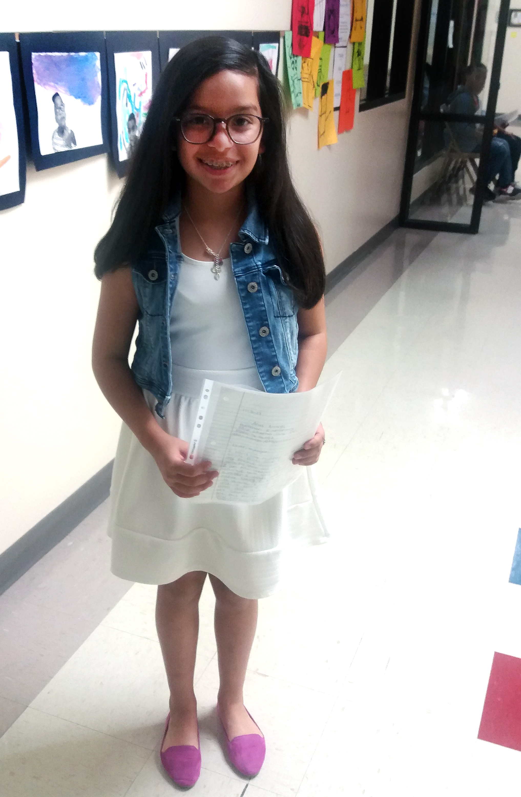 Huffman 5th grader at job fair