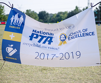 National PTA School of Excellence sign