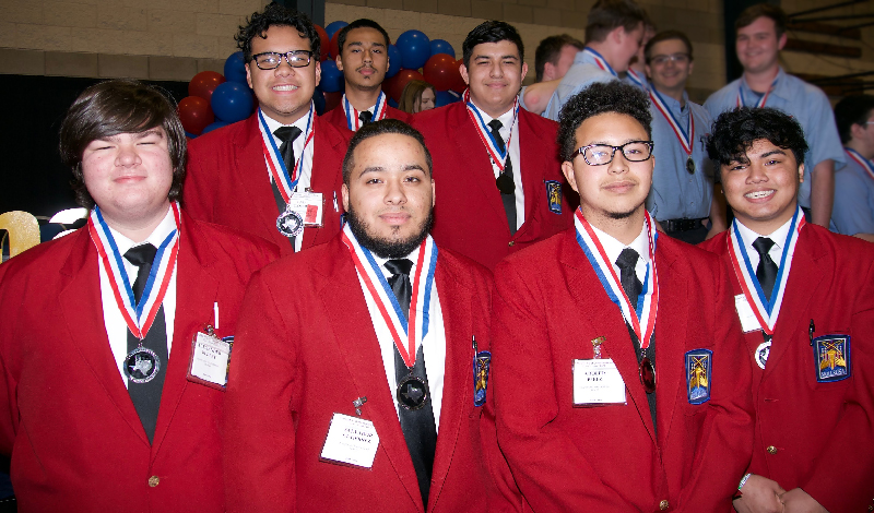 Plano East Auto Tech students at competition