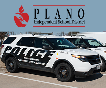 Campus Protection - Police car in partnership with Plano ISD