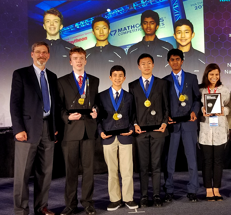 Texas MATHCOUNTS team with medals