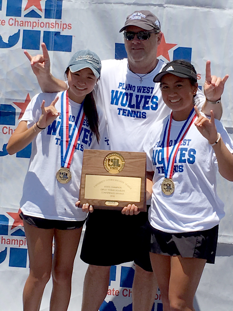 Emma Gener, Jocelyn Thai  and Coach Morgen Walker