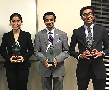Jaqueline Wei, Nikhil Ramaswamy and Uzair Alpial winners from PWSH.