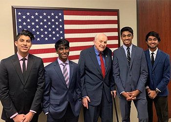 Team photo with Congressman Sam Johnson