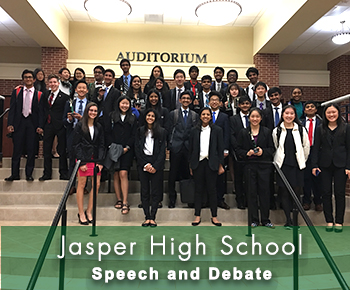 Jasper HS Speech & Debate team group photo