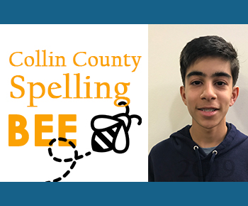 Collin County Spelling Bee 3rd place Satvik Mahendra
