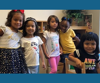 group of smiling preK girls