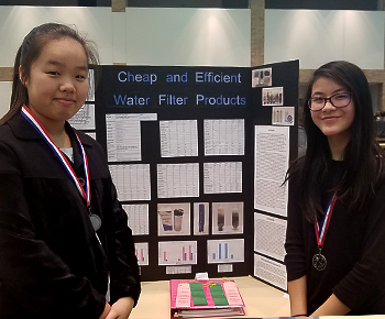 District Science Fair, Jr Level girls from Robinson MS