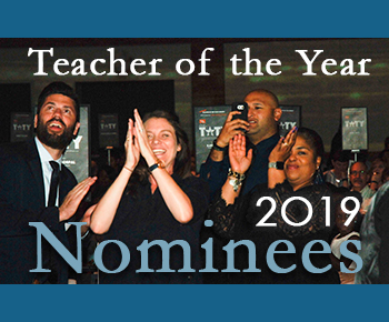 Teacher of the Year 2019 Nominees/ photo of cheering people