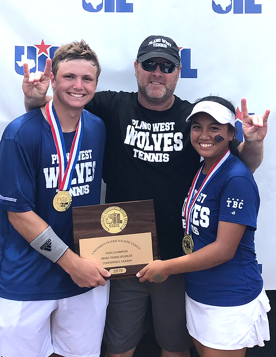 UIL 6A Tennis Mixed Doubles State Champions