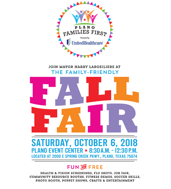 Plano Families First Fall Fair date, time, location