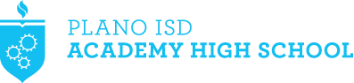 Plano ISD Academy High School logo shield
