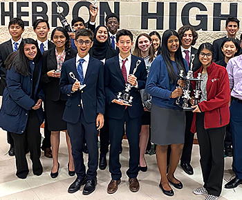 Jasper Speech & Debate team at Hebron HS