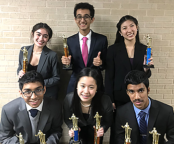 PSHS speech and debate 6 winners with trophies