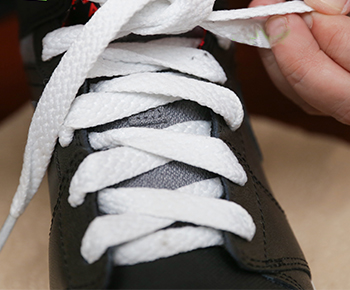 shoe with laces