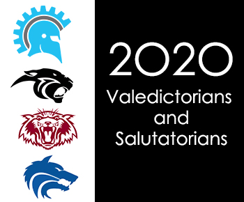 senior high and academy logos 2020 Valedictorians and Salutatorians