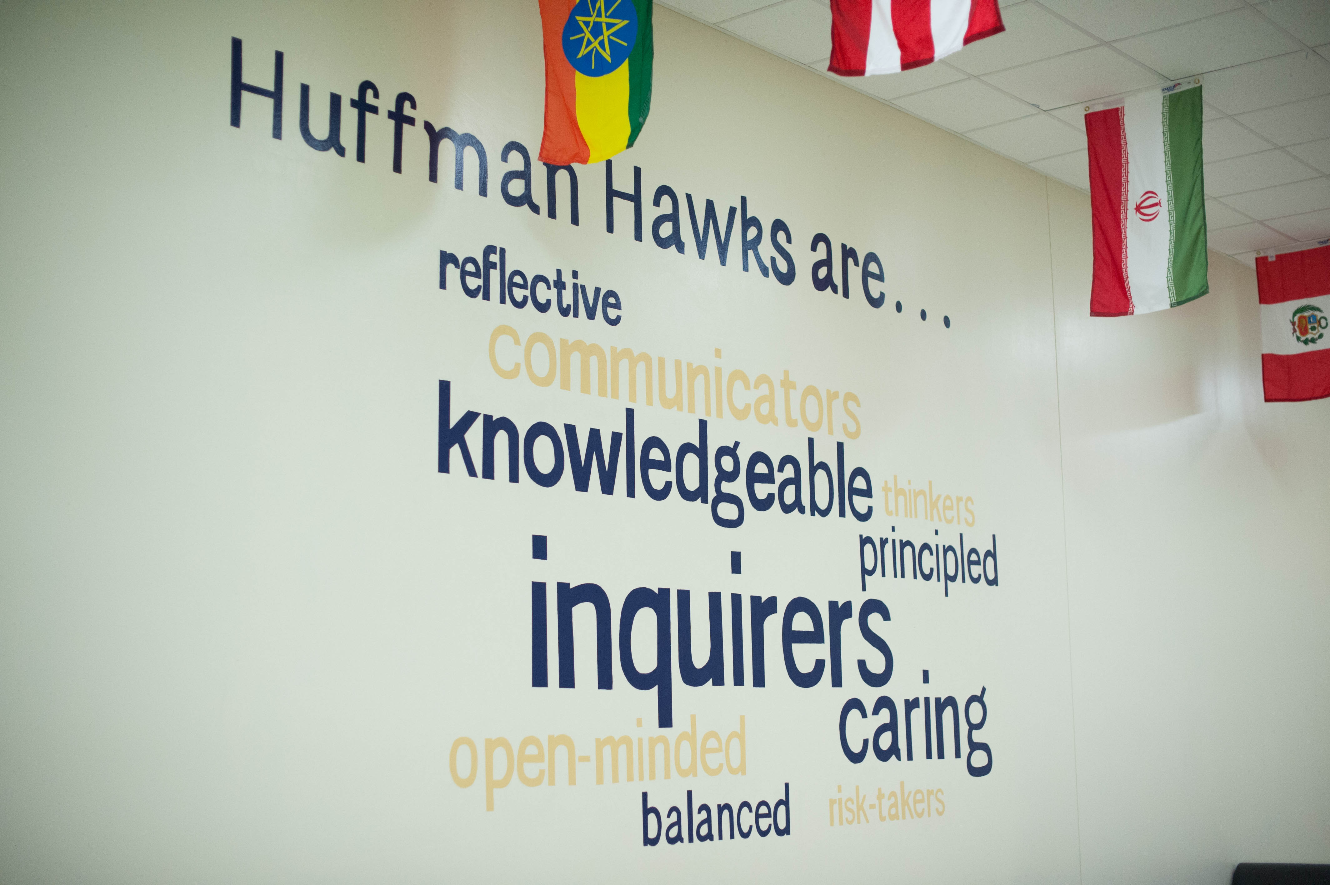 Huffman hawks reflective communicators knowledgeable thinkers principled inquirers open-minded caring balanced risk-takers